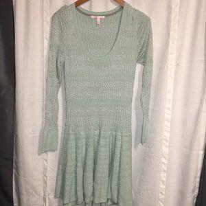 Victoria secret size Lg sweater dress mint green